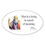 Plato 3 Oval Sticker