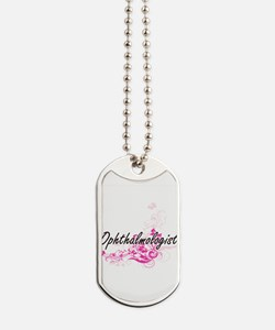 Ophthalmologist Artistic Job Design with Dog Tags