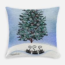 Christmas Tree Stray Cats Everyday Pillow