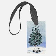 Christmas Tree Stray Cats Luggage Tag