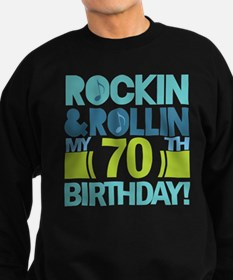 70th Birthday Rock Sweatshirt (dark)