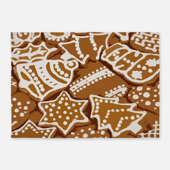 Christmas Gingerbread 5'x7'Area Rug