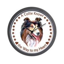 Collie Knows Wall Clock