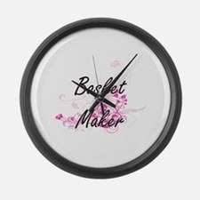 Basket Maker Artistic Job Design Large Wall Clock