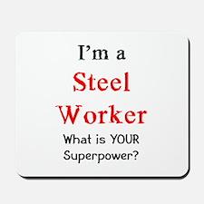 steel worker Mousepad