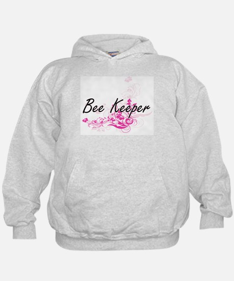Bee Keeper Artistic Job Design with Fl Hoody