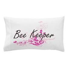 Bee Keeper Artistic Job Design with Fl Pillow Case
