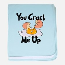 You Crack Me Up baby blanket