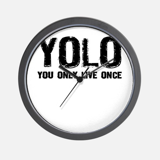 YOLO You Only Live Once Wall Clock