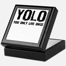YOLO You Only Live Once Keepsake Box