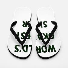 World's Okayest Sister Flip Flops