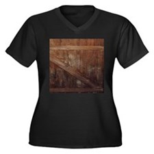 primitive farmhouse barn wood Plus Size T-Shirt