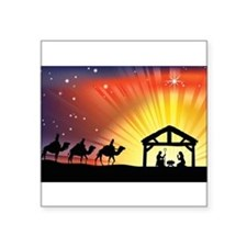 "Unique Bible story Square Sticker 3"" x 3"""