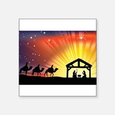 "Unique Christmas light Square Sticker 3"" x 3"""