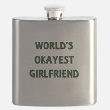 World's Okayest Girlfriend Flask