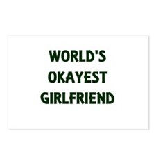 World's Okayest Girlfrien Postcards (Package of 8)