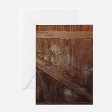 primitive farmhouse barn wood Greeting Cards