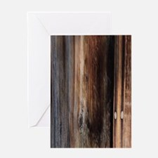 western country barn board Greeting Cards