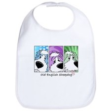 Old English Sheepdog Strips Bib