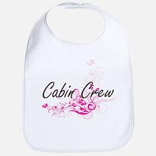 Cabin Crew Artistic Job Design with Flowers Bib