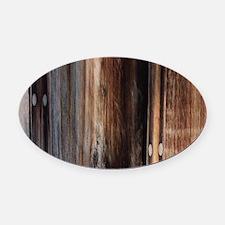 western country barn board Oval Car Magnet