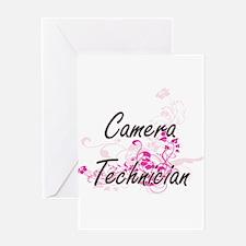 Camera Technician Artistic Job Desi Greeting Cards