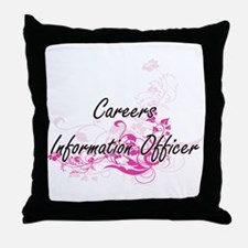 Careers Information Officer Artistic Throw Pillow