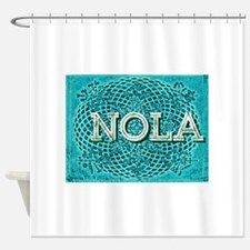 NOLA Elegant Turquoise Egg Shower Curtain