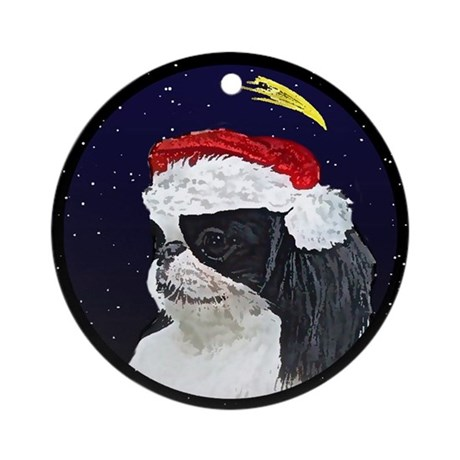 Christmas Night Japanese Chin Ornament