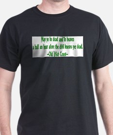 Irish Toast--Before Divil Kno Ash Grey T-Shirt