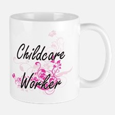 Childcare Worker Artistic Job Design wi Mugs