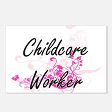 Childcare Worker Artistic Postcards (Package of 8)