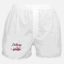 Childcare Worker Artistic Job Design Boxer Shorts