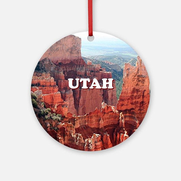 Utah: Bryce Canyon 5 Round Ornament
