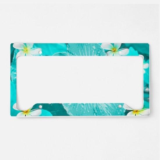 Blue Hawaii License Plate Holder