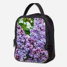 Purple lilac flowers Neoprene Lunch Bag