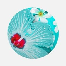 Blue Hawaii Round Ornament