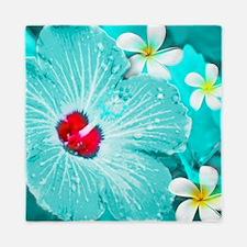 Blue Hawaii Queen Duvet