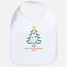 Our First Christmas 2015 Bib