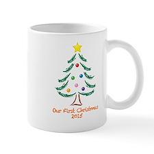 Our First Christmas 2015 Small Mug