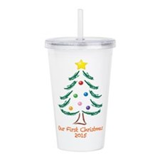 Our First Christmas 20 Acrylic Double-wall Tumbler