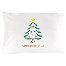 Holiday Christmas Tree 2015 Pillow Case