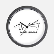 Owned by a Dachshund Wall Clock