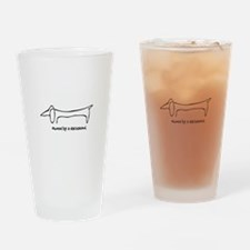 Owned by a Dachshund Drinking Glass
