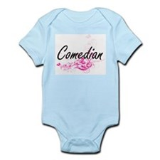 Comedian Artistic Job Design with Flower Body Suit