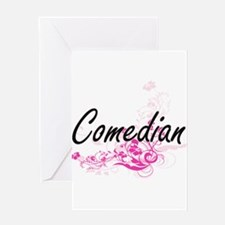 Comedian Artistic Job Design with F Greeting Cards