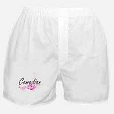 Comedian Artistic Job Design with Flo Boxer Shorts