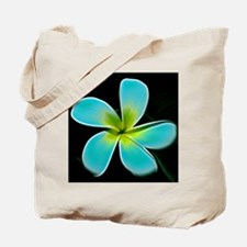 Turquoise Yellow White Flower Tote Bag