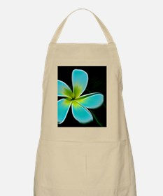 Turquoise Yellow White Flower Apron