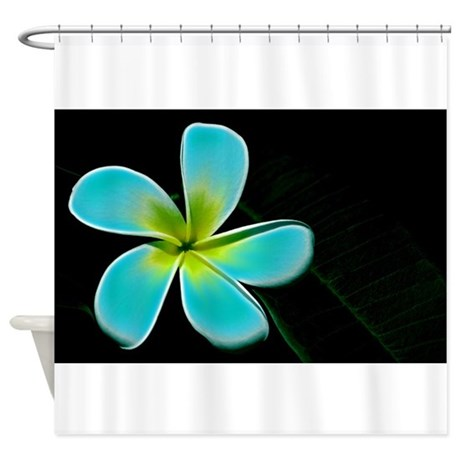 Turquoise Yellow White Flower Shower Curtain By Admin